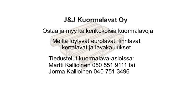 J&J Kuormalavat Oy
